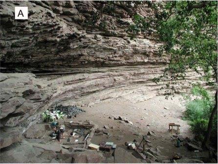 50 Тысяч лет назад в африке делали краску из охры и молока