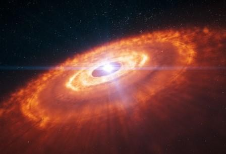 Alma запечатлела процесс формирования планет