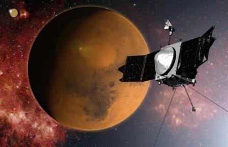 Американский научный спутник maven вышел на орбиту марса