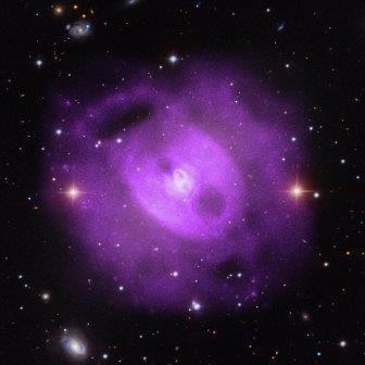 Астрофизики наблюдали три извержения в активном центре галактики