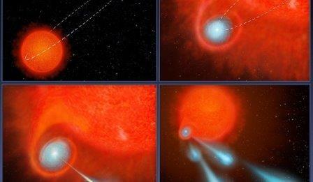 Астрономы нашли звезду, стреляющую плазменными «пулями»