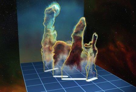 Астрономы получили трехмерные снимки знаменитых столпов творения