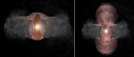 Астрономы рассказали о 18-летнем наблюдении за рождением звезды