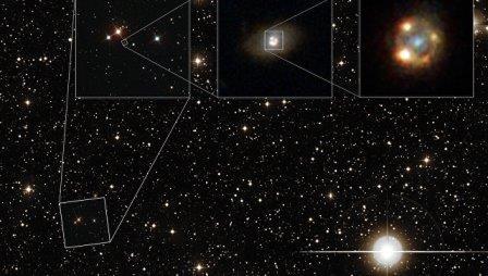 Астрономы впервые увидели сверхновую, увеличенную «линзой эйнштейна»