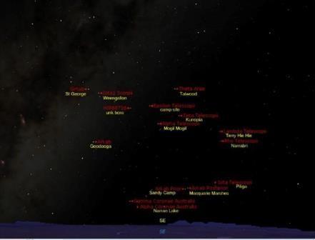 Австралийским аборигены ориентировались по звёздам