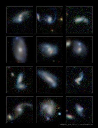 Большие галактики набирают вес, поглощая мелких соседей. видео