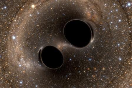 Двойные черные дыры могут появляться из двойных звезд