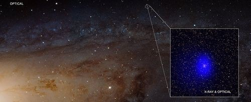 Галактика андромеды заслонила двойную черную дыру