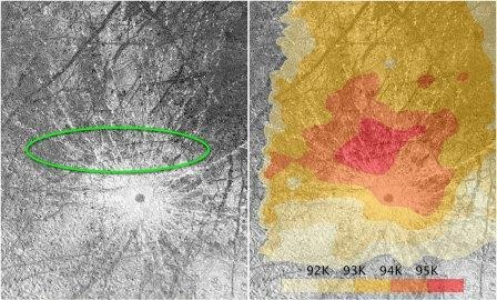 «Хаббл» получил новые фотографии гейзеров на европе