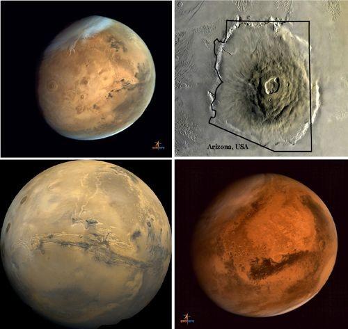 Индийский орбитальный аппарат передал изображения крупнейшего вулкана на марсе