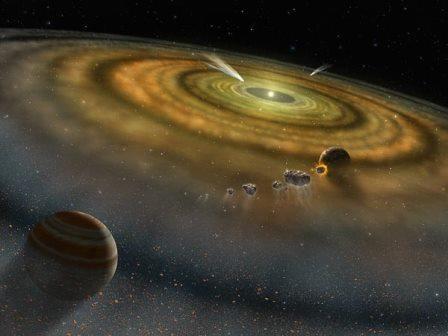 Юпитер является поставщиком 8 миллиардов астероидов в облако оорта