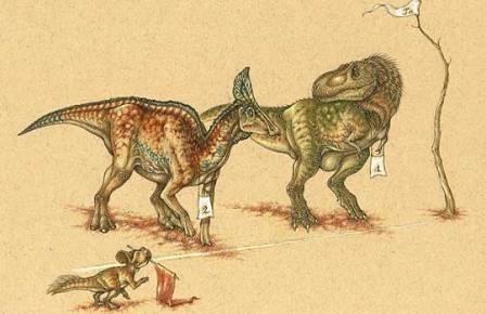 Как гадрозавры побеждали тирексов