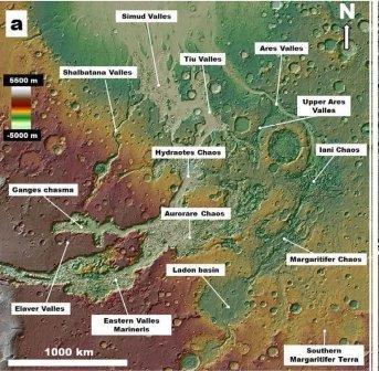 Как на самом деле возникли гигантские каналы на марсе