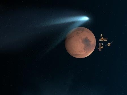 Комета «siding spring» разминулась с марсом