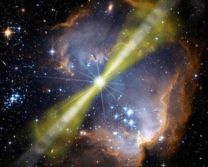 Красочная агония умирающей звезды, превращающейся в черную дыру