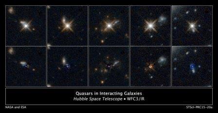 Квазары образовывались в результате столкновений и слияний галактик