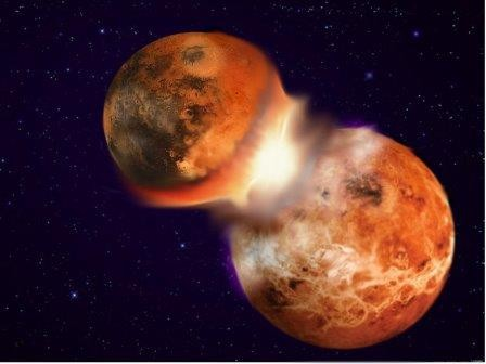 Луна родилась в ходе «лобового столкновения» земли и другой планеты
