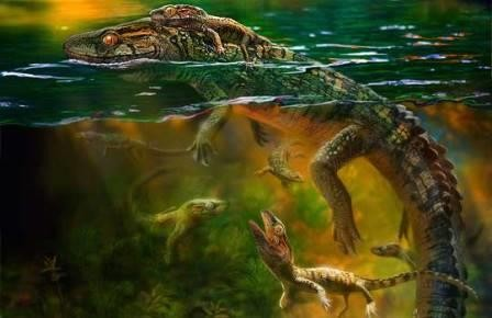 Меловые рептилии проявляли родительскую заботу