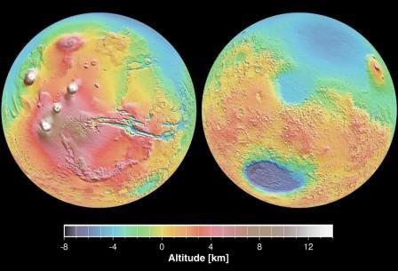 Миллиарды лет назад громадный астероид расплавил половину марса