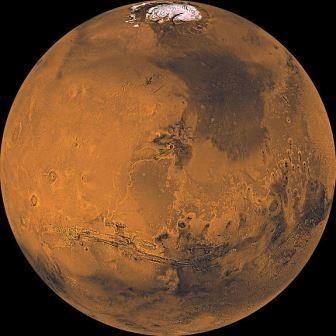 На марсе ночью идет снег