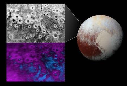Наса показало снимок «светящихся» кратеров плутона