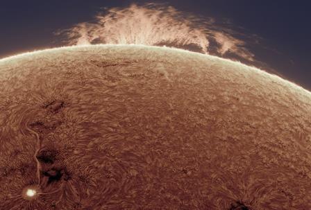 Наса показало жуткий снимок солнечного протуберанца