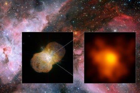 Очень большой телескоп разглядел звездные ветры эты киля