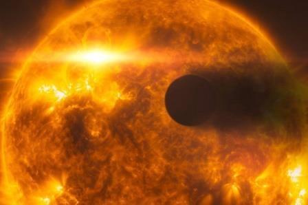 Очень горячая экзопланета оказалась почти черной