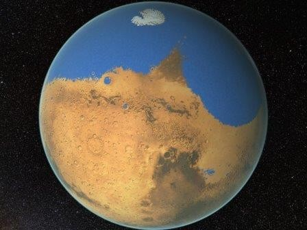 Океан на марсе был больше северного ледовитого океана
