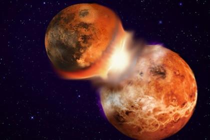 Подтверждена теория возникновения луны из-за столкновения земли с планетой тейя