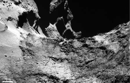 Представлены первые результаты анализа структуры кометы чурюмова — герасименко