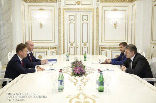 Премьер-министр армении иглава «газпрома» обсудили планы сотрудничества - «энергетика»