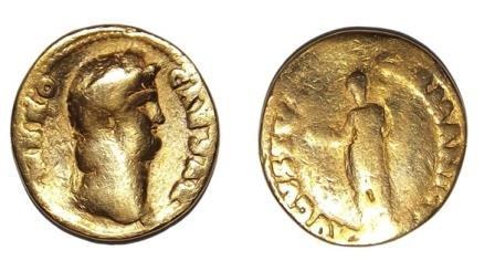 Римская золотая монета с изображением нерона найдена в великобритании