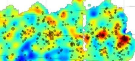 Создана карта распределения темной материи