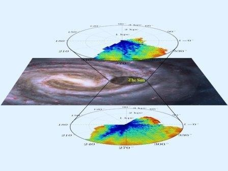 Создана трехмерная карта распределения межзвездной материи в млечном пути