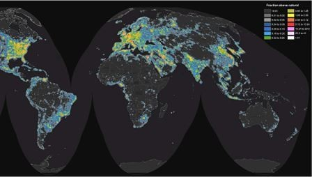 Световое загрязнение оставило треть жителей земли без млечного пути