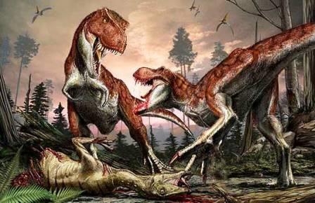 Тиранозавры были стайными животными