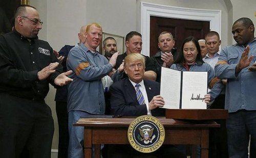 Трамп подписал распоряжение опошлинах наимпорт стали иалюминия всша - «экономика»