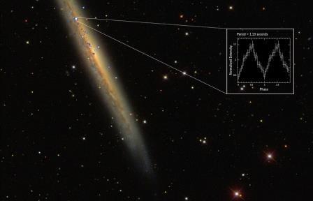 Ученые обнаружили самый яркий пульсар во вселенной