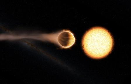 Ученые обнаружили стратосферу у экзопланеты в созвездии корма