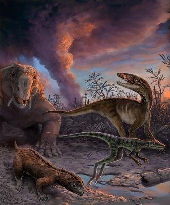 Ученые вычислили точное время появления динозавров на земле
