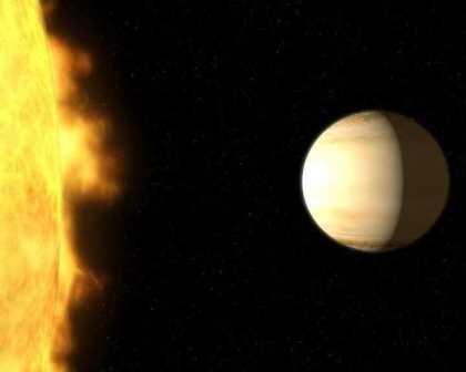 В атмосфере гигантской экзопланеты нашли воду