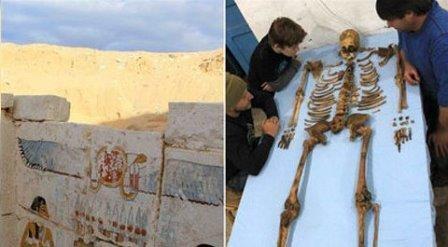 В египте обнаружили гробницу неизвестного фараона