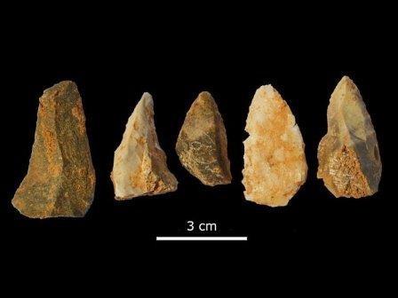 В каталонии найдены наконечники копий возрастом 50 тысяч лет