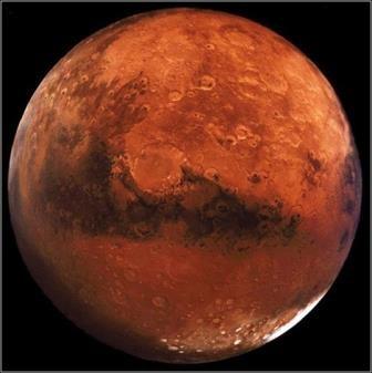 В районе марсианского экватора находятся крупные скопления воды