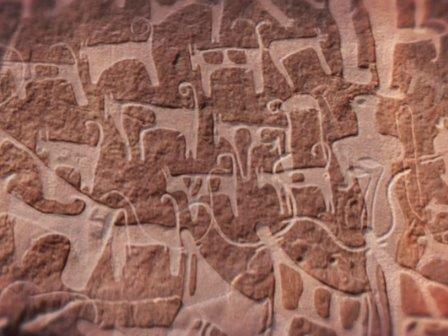 В саудовской аравии найдено древнейшее изображение собак