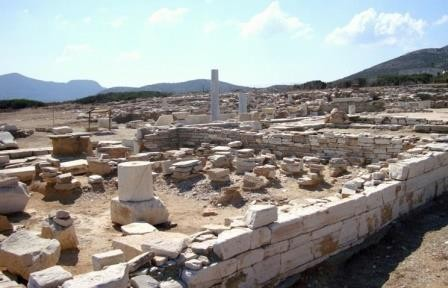 В святилище аполлона в эгейском море найдены древние артефакты