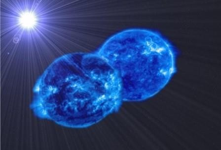 Впервые обнаружили две массивные звезды в процессе слияния