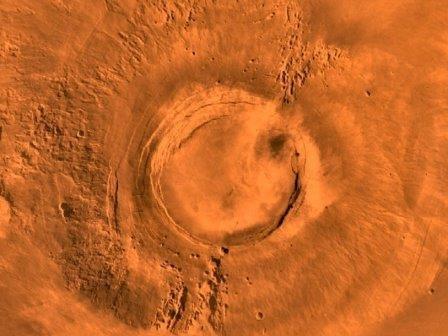 Вулкан на марсе последний раз извергался 50 миллионов лет назад