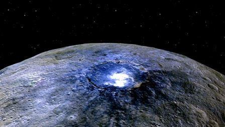 Зонд dawn раскрыл еще одну тайну загадочных белых пятен на церере